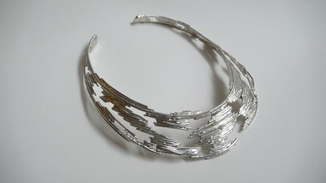 , 'Open Latticework Silver Choker,' 2012, Cristina Grajales Gallery
