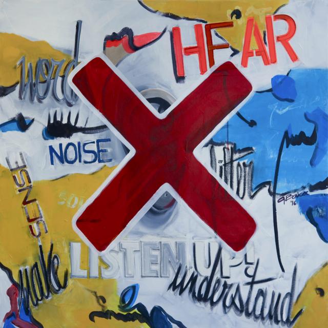 , 'LISTEN UP,' 2016, Mark Hachem Gallery