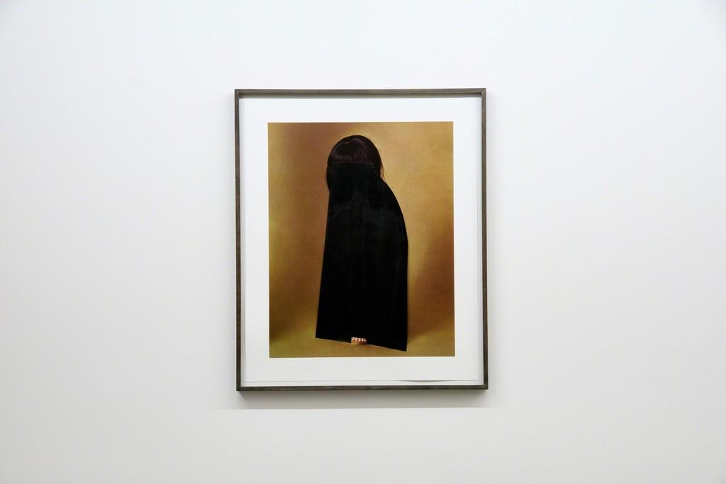 Untitled (Girl with black veil) 2016 / 47 x 60 cm / framed 76,4 x 63,7 cm