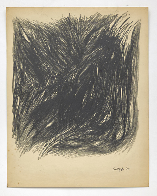 Sonia Gechtoff, 'Untitled', 1958, Drawing, Collage or other Work on Paper, Graphite on paper, David Richard Gallery