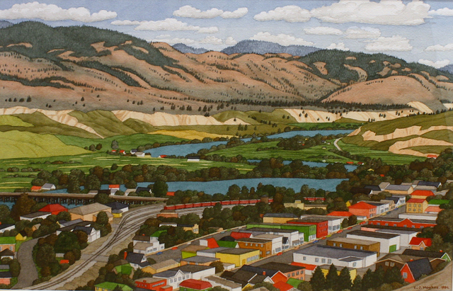 , 'Looking East Over Kamloops ,' 1994, Madrona Gallery