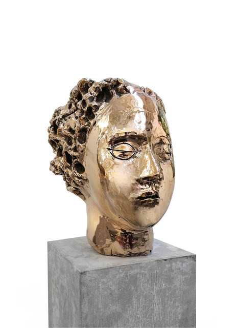 , 'Bronze Head (Gold) vb.b.005,' 2014, Lia Rumma