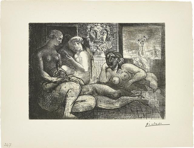 Pablo Picasso, 'Quatre femmes nues et tête sculptée (Four Nude Women and a Carved Head), plate 82, from La Suite Vollard', 1934, Phillips