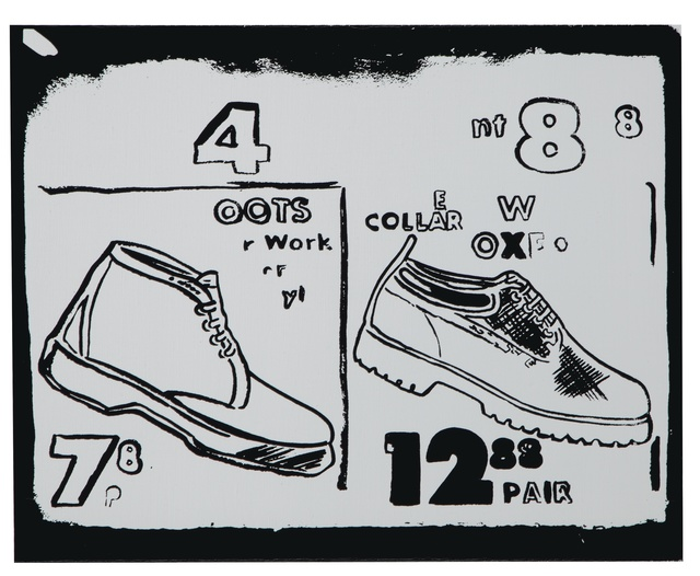 Andy Warhol, 'Work Boots (Positive)', 1985-1986, Print, Synthetic polymer and silkscreen inks on canvas, Christie's Warhol Sale