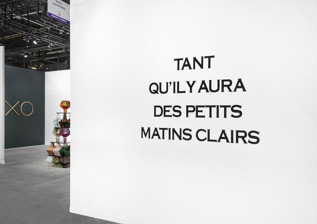 , 'tant qu'il y aura des petits matins clairs,' 1988, Galerie Laurent Godin