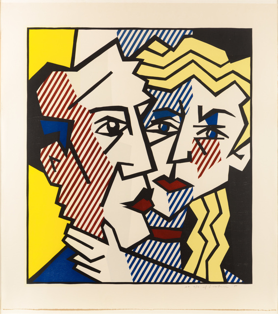 , 'The Couple, from Expressionist Woodcut series,' 1980, Leslie Sacks Gallery