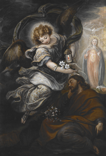 Francisco Rizi, 'The Dream of St. Joseph', ca. 1665, Painting, Oil on canvas, Indianapolis Museum of Art at Newfields