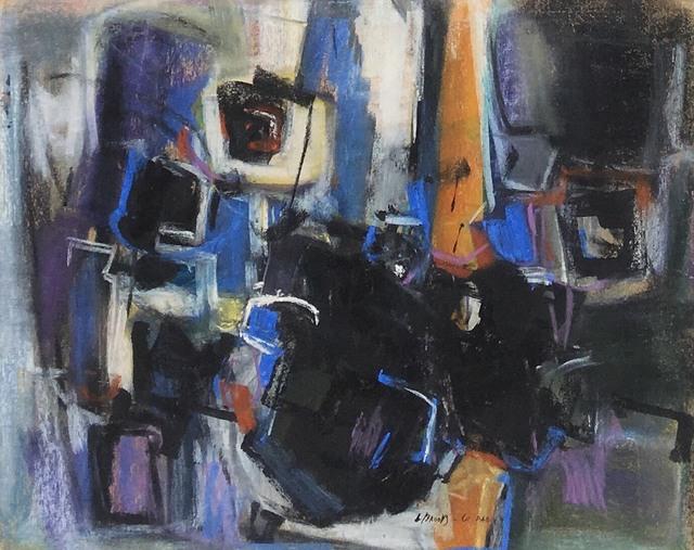Leonard Brooks, 'Untitled', 1961, Mixed Media, Ink and pastel on board, Rumi Galleries