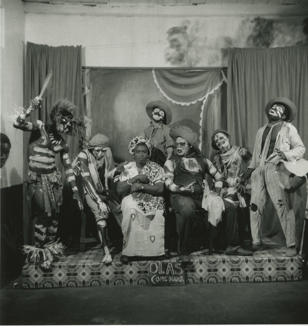 , 'Accra, Ever Young studio, vers 1953-54. The Olas Comedians, an all-male troupe of actors photographed in James' studio. The Ever Young studio was open day and night.,' 2017, Galerie Clémentine de la Féronnière