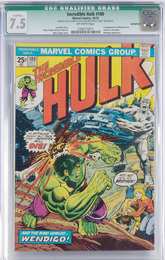 Incredible Hulk issue #180, 1st cameo appearance of Wolverine, CGC Qualified grade 7.5