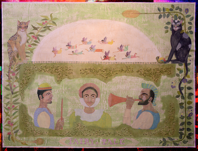 , 'Two performers and me as Cinderella,' 2016, Priyasri Art Gallery