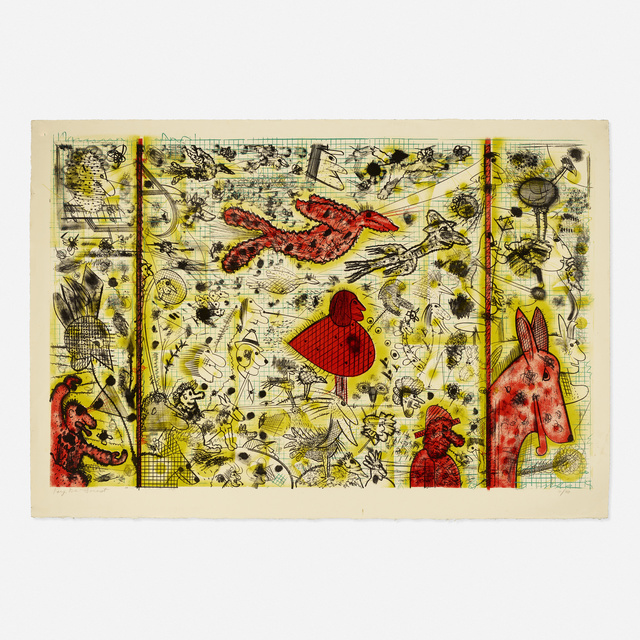 Roy DeForest, 'History of Flight', 1994, Print, Lithograph in colors, Rago/Wright