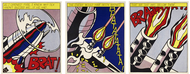 Roy Lichtenstein, 'As I Opened Fire Triptych', 1997, EHC Fine Art Gallery Auction