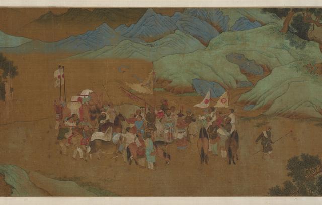 , 'Tribute Bearers (detail),' Ming Dynasty (1368, 1644), China, 1500s, Denver Art Museum