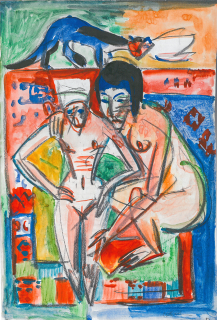 , 'Femme nue et fille (probablement Anna Müller),' ca. 1925, HELENE BAILLY GALLERY