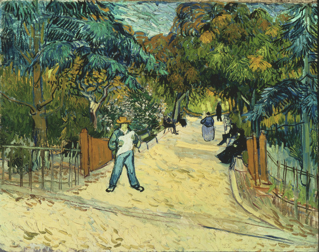 , 'Entrance to the Public Gardens in Arles,' 1888, Kimbell Art Museum