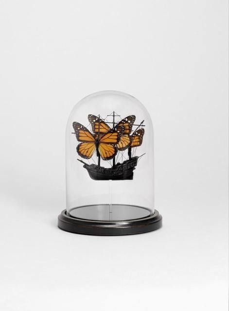 , 'Butterfly Boat (orange black),' 2012, Cob