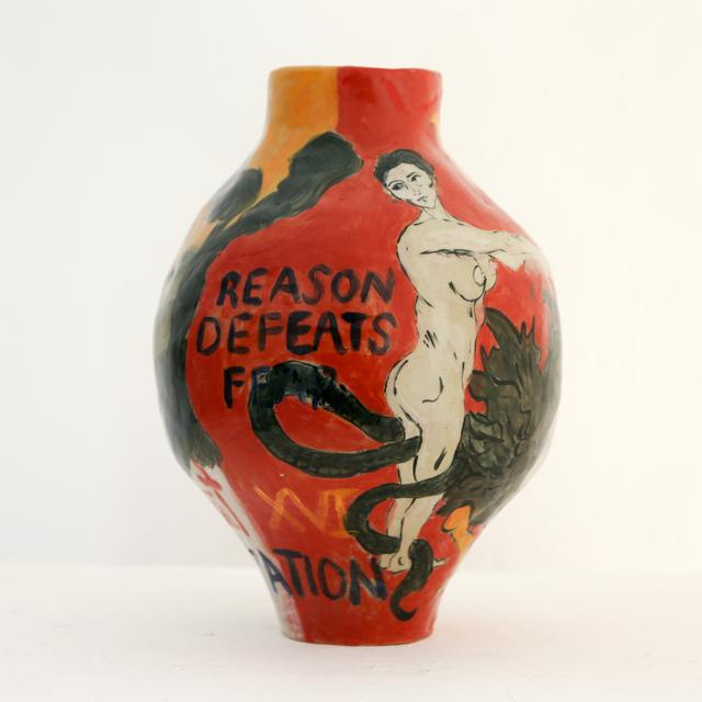 , 'Violent Confrontation - Reason Defeats Fear,' 2018, LAMB Arts