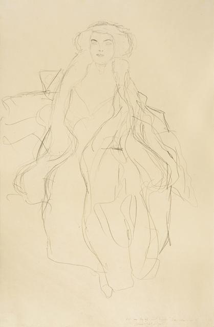 , 'Study for portrait of Amalie Zuckerkandl,' 1913-1914, W&K - Wienerroither & Kohlbacher