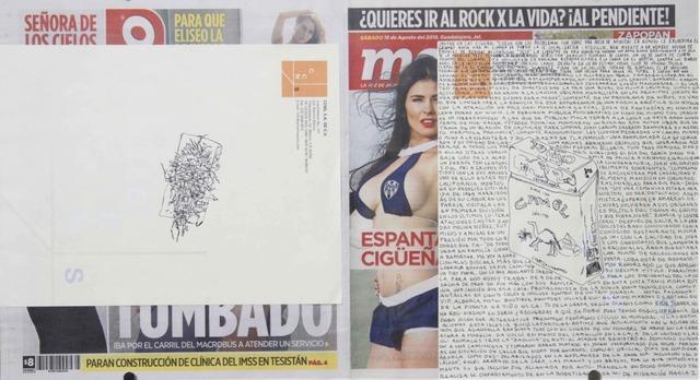 , 'Political Drawing (Metro: Guadalajara, Mexico, Sábado 15 Agosto 2015),' 2015, Travesia Cuatro
