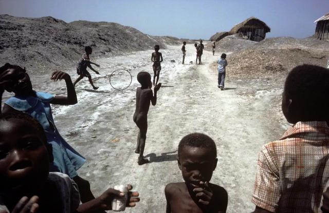 Alex Webb, 'Children Playing on Salt Flats Ganaives, Haiti', 1980, Etherton Gallery