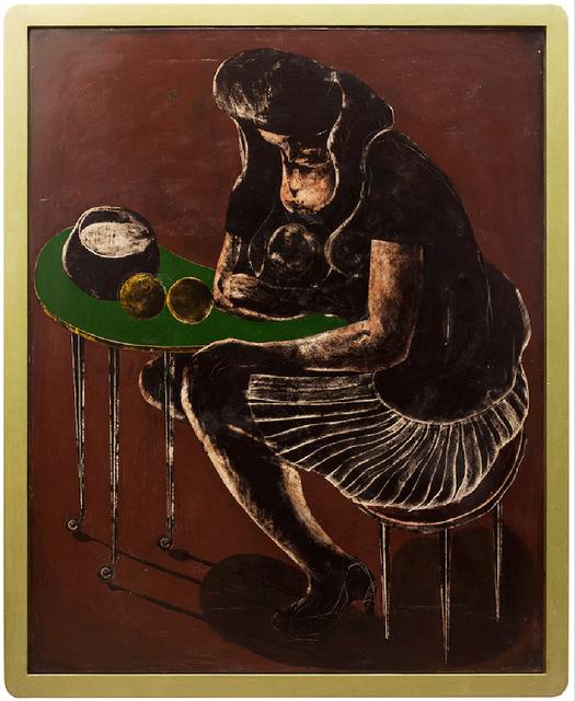 , 'orangen auf grünem Tisch (oranges on green table),' 2016, galerie burster