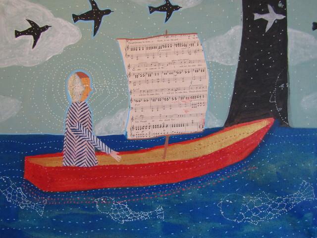 Donald Saaf, 'Fisherman on the water', 2019, Rice Polak Gallery