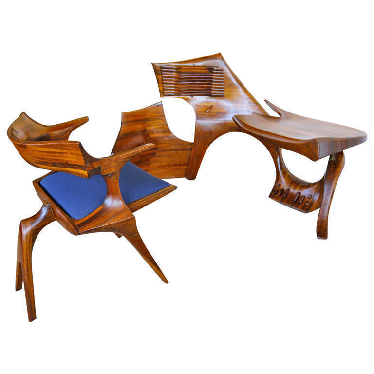 Sculptural, hand crafted armchair & environment