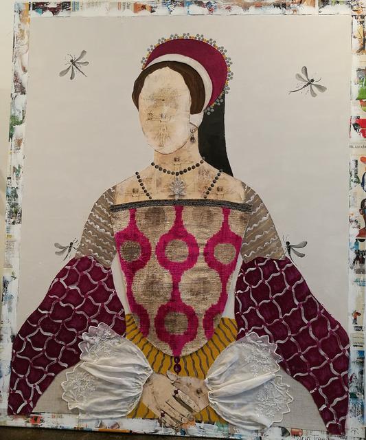 , 'Queen Mary Velvet Ikkat,' 2017, Rebecca Hossack Art Gallery
