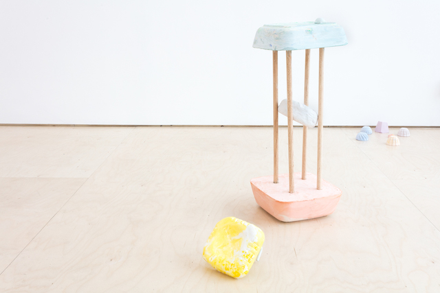 Pippa Eason, 'Rushing for a Pound for The Ice-Cream Man ', 2019, Sculpture, Plaster, wood, clay, SEAGER