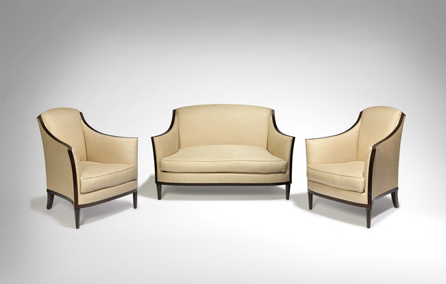 , 'Pair of armchairs and sofa,' ca. 1927, Galerie Marcilhac