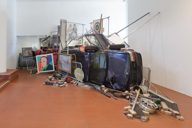 , 'Bakunins Barrikade,' 2014/2015, Museum Ludwig