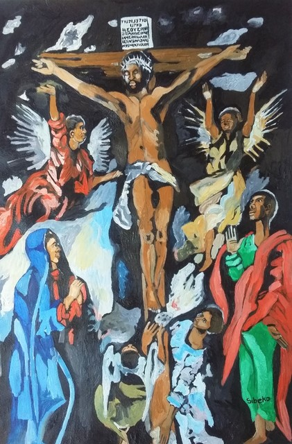 , 'African Renaissance Series- re imagining the Old Masters The Crucifixion by El Greco,' 2019, Yebo Art Gallery