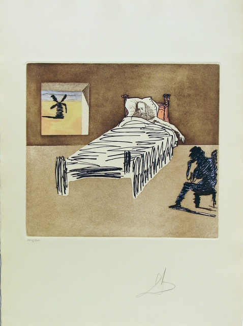Salvador Dalí, 'Don Quixote Man Of La Mancha - Le Legacy', 1980, Print, Etching Aquatint on Japon Paper, Gregg Shienbaum Fine Art