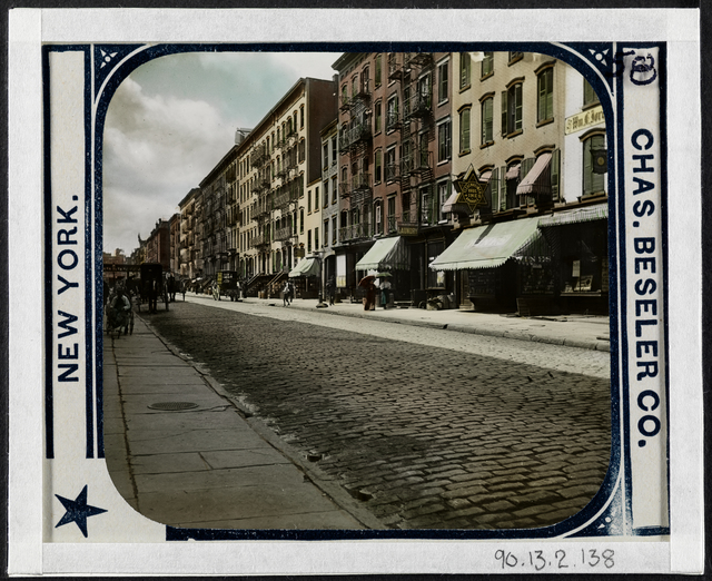 Jacob A. Riis, 'Fifth Street looking west. One of a set of street cleaning contrast slides set between 1893 and 1897, before and under Colonel Waring', ca. 1895, Museum of the City of New York