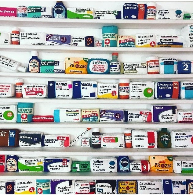 , 'Pill Cabinet,' 2018, Rhodes