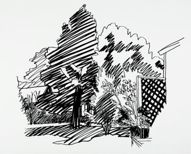 Tom Wesselmann, 'Jeannie's Backyard, East hampton', 1990, Markowicz Fine Art