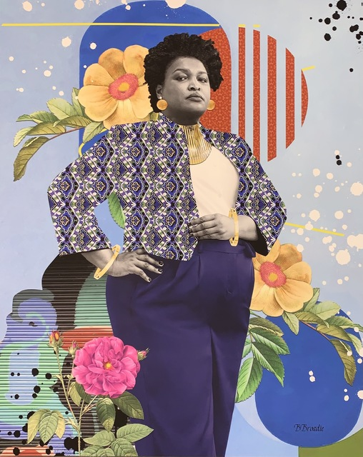 "B. Brody, 'B. Brody Print ""All Blue Everything: A Walk in the Park with Stacey Abrams"" ', 2021, Posters, Giclée print on thick stock fine art paper, New Union Gallery"