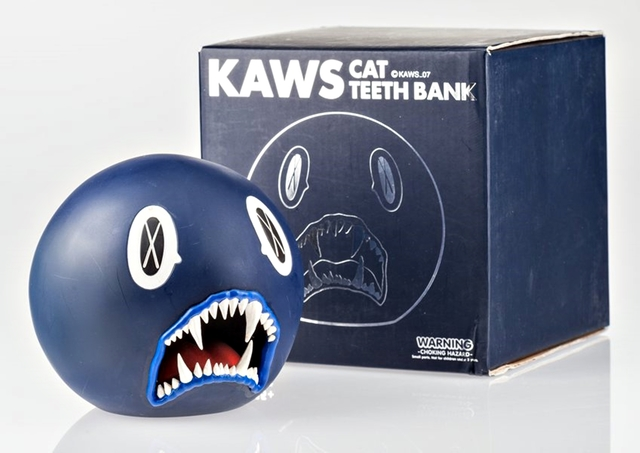 KAWS, 'Cat Teeth Bank (Navy Blue) in original box', 2007, Alpha 137 Gallery