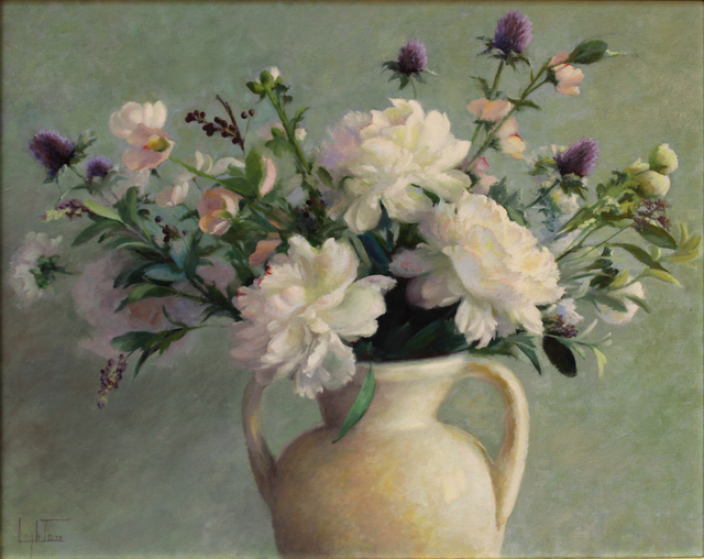 , 'Peonies and Thistle,' 2019, The Guild of Boston Artists