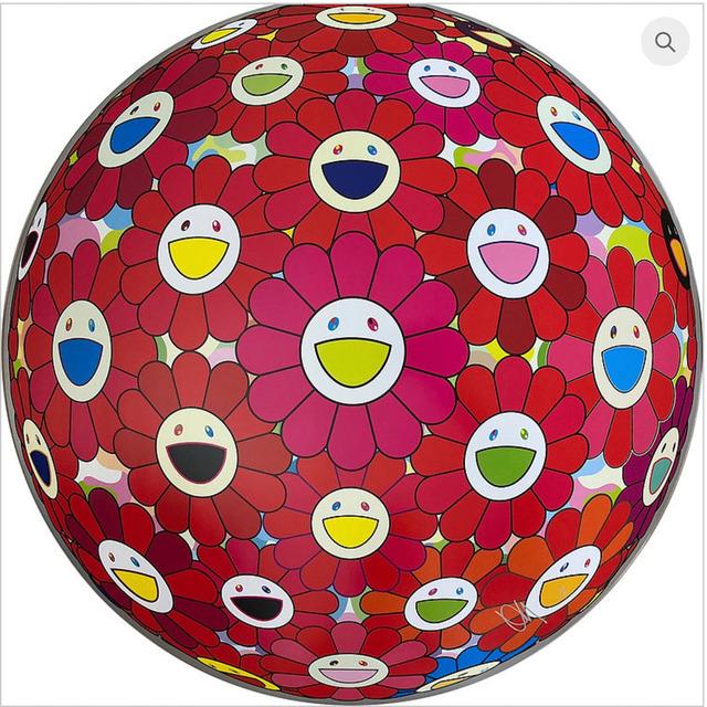 Takashi Murakami, 'Flower Ball: Thinking Matter (Red)', 2017, MSP Modern