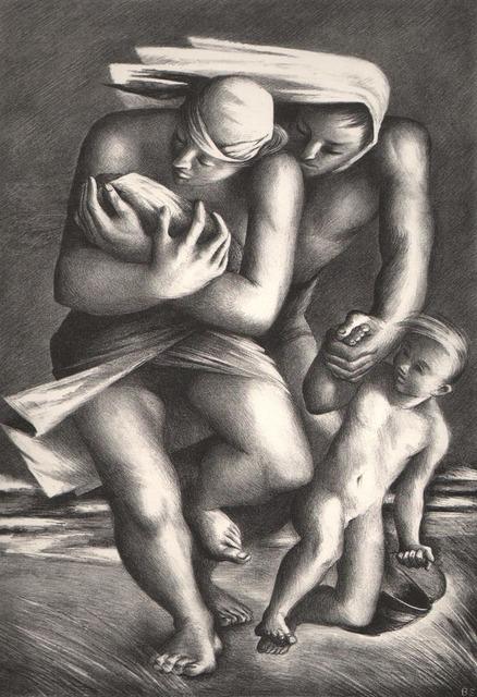 Benton Spruance, 'Flight from the Beach', 1939, Print, Lithograph, Dolan/Maxwell