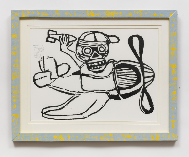 , 'Untitled (AF48 Skull with Hat in Plane) ,' 2001, The Good Luck Gallery