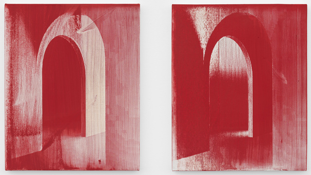 Dean Levin, 'Untitled (diptych)', 2017, Painting, Singed oil on linen, Pippy Houldsworth Gallery