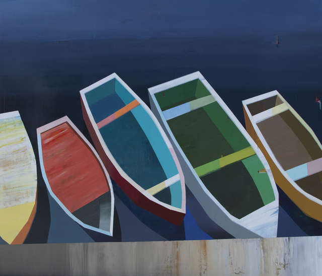 Siddharth Parasnis, 'Boats in the Shallow Water #25', 2019, Painting, Oil on Canvas, Caldwell Snyder Gallery