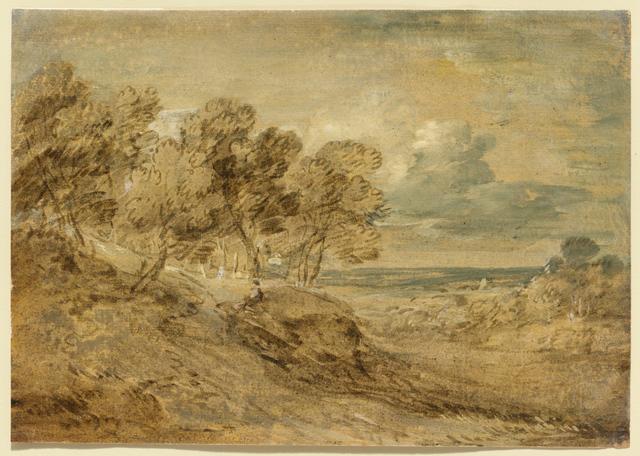 , 'Landscape with a View over a Distant Plain,' ca. 1775, Clark Art Institute