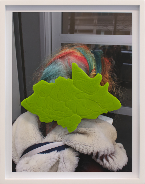 , 'Untitled (Spring Green Flow with Artist Hair),' 2017, Anglim Gilbert Gallery