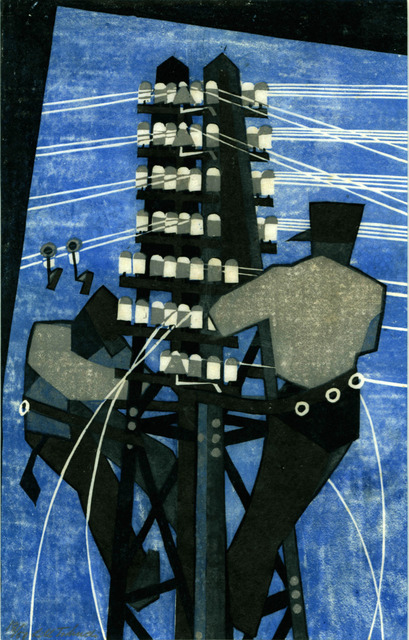 , 'Fixing the Wires,' 1932, Redfern Gallery Ltd.