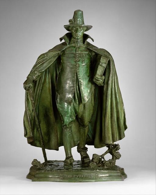 Augustus Saint-Gaudens, 'The Puritan', 1883–1899, Sculpture, Bronze, The Metropolitan Museum of Art