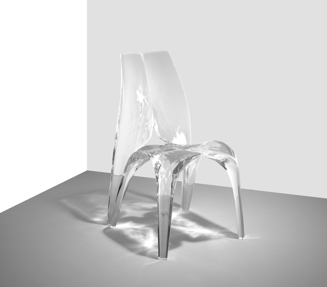 , 'Chair 'Liquid Glacial',' 2015, Zaha Hadid